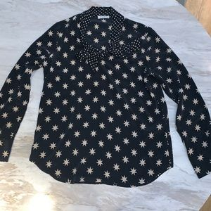 Equipment Femme Star Long Sleeve Pussy Bow Blouse